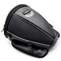 Universal Motorcycle Carbon Fiber color rear seat Tail Bag Motor shoulder backpack Carry Luggage waterproof Reflective