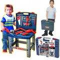 Niños clásicos caja de herramientas de plástico fijó los juguetes educativos herramienta de simulación kit casa un juego de niños juguetes juguetes educativos