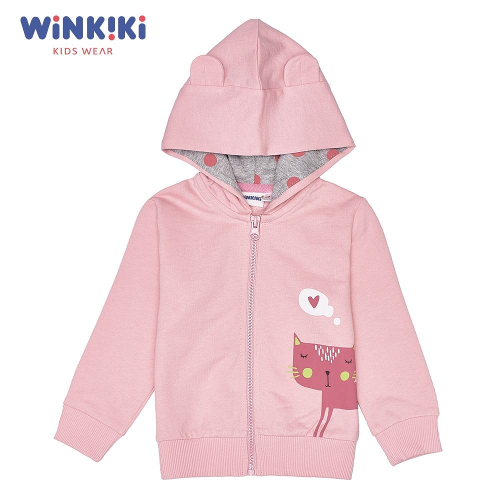 цена на Hoodies & Sweatshirts Winkiki WN91305 Cotton Pink Girls Casual children clothing kids