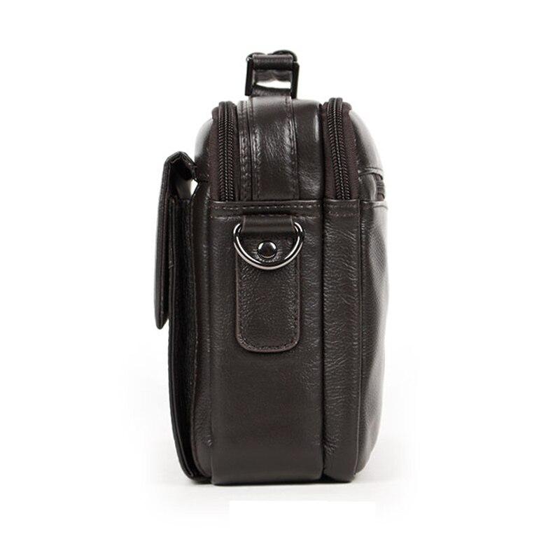 Sac à bandoulière en cuir véritable pour hommes sac à bandoulière homme petits sacs Messenger sacs à main d'affaires sac fourre-tout décontracté - 6