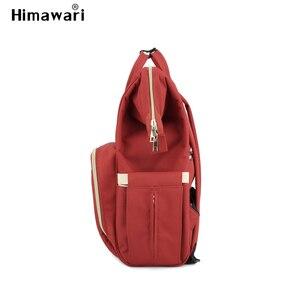 Image 4 - Himawari klasik bebek bezi çantası moda kadın seyahat sırt çantaları Laptop büyük kapasiteli mumya analık bez torba Bolsa Maternidade