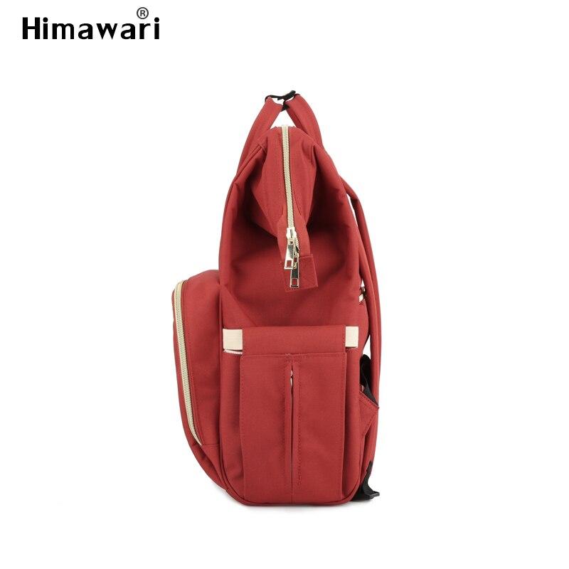 Image 4 - Himawari классическая сумка для подгузников, модные женские дорожные рюкзаки для ноутбука, большая емкость, сумка для подгузников для мам, сумка для подгузников Bolsa Maternidade-in Рюкзаки from Багаж и сумки