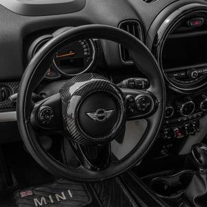 Image 2 - carbon fiber Modification Accessories Steering wheel center decoration car styling For MINI COOPER Clubman S F54 F55 F56 F57 F60