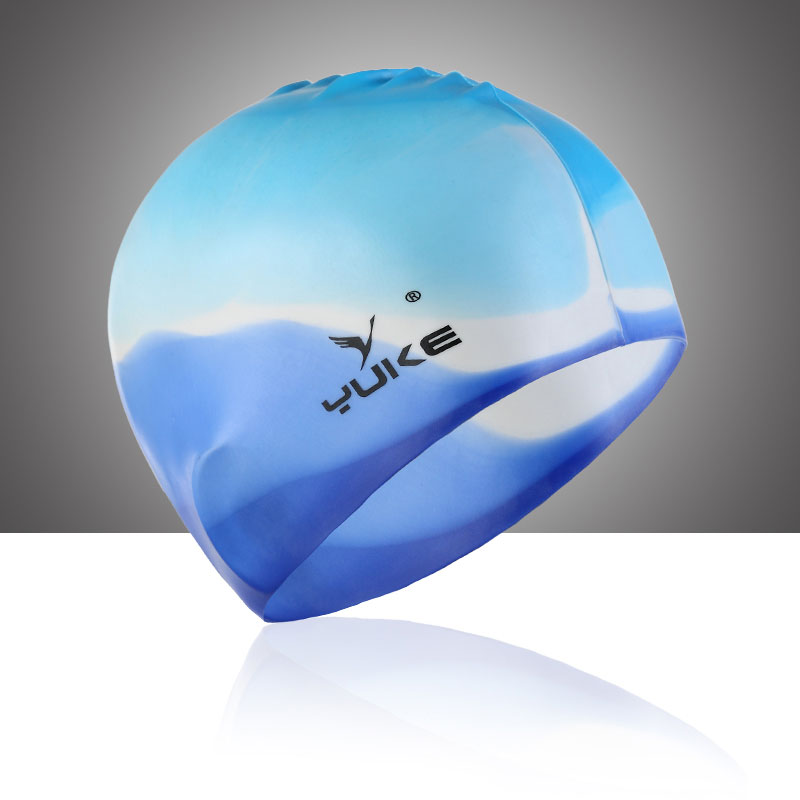 new multicolor optional no head ear Swimming Cap Super Elastic Silicone Unisex hair silicone waterproof summer water man swimming caps silicone boys 2016 new blue bathing cap male adult professional waterproof ear sale