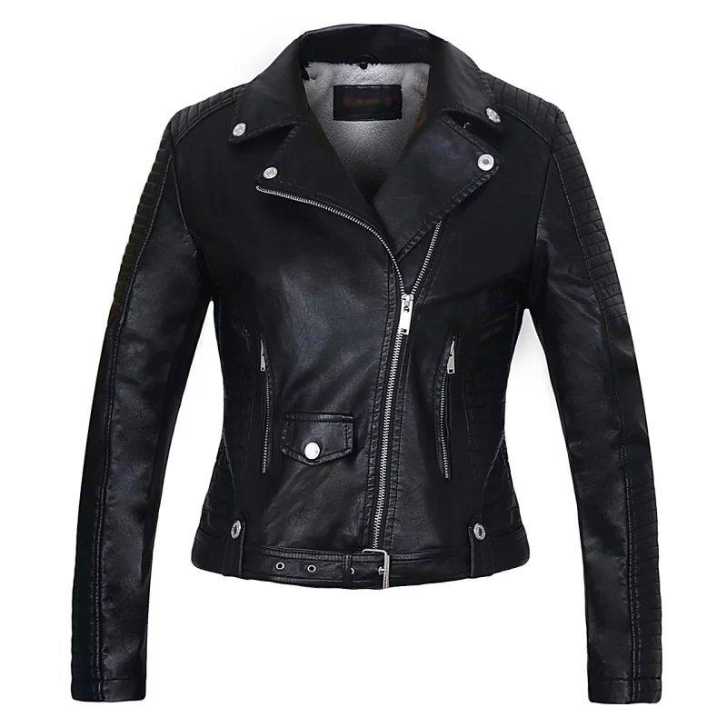 Femme Complet Mode Manteau Veste Noir Biker Noir Vestes Faux En orange Pu Hiver Court Manches Cuir Zipper Casual gwCgqYz
