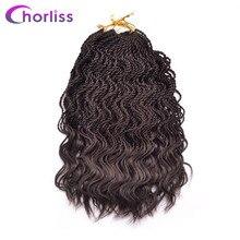 """Chorliss 14 """"вьющиеся Сенегальский вязанная косами твист синтетический плетение волос Ombre 35 корни/пакет низкий температурный волокно"""