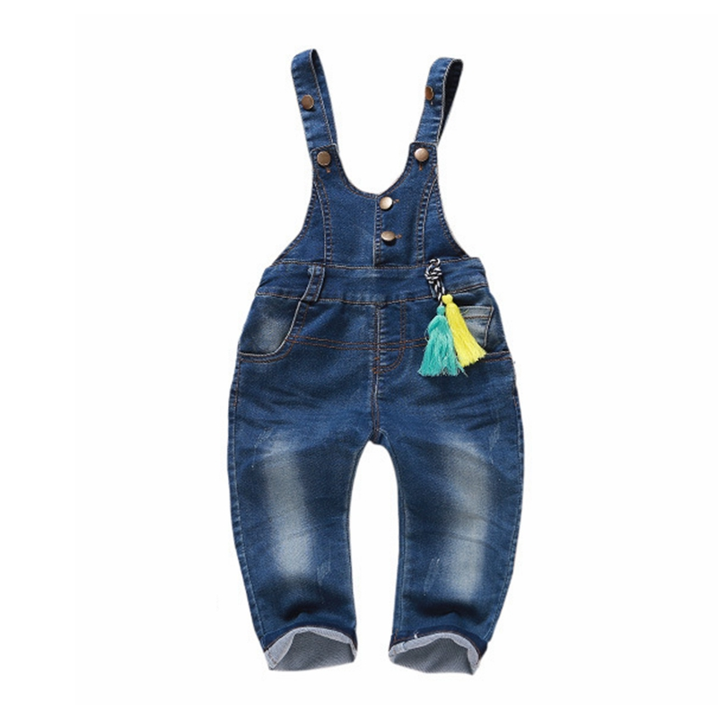 12m-5t Kids Denim Overalls Baby Pants Bebe Clothes Girls Boys Jeans Jumpsuit Children Rompers Toddler Clothing Baby bib Overalls