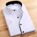 Мужчины рубашка летние льняные мужчины рубашки марка Camisas Masculina уменьшают подходящую бизнес белые рубашки всех святых мужчины hollistic