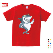 Boy Summer T Shirt Baby Shark Kids Tops Tee T-shirts BabySports Wear Casual Clothes Children TShirt  3T-9T