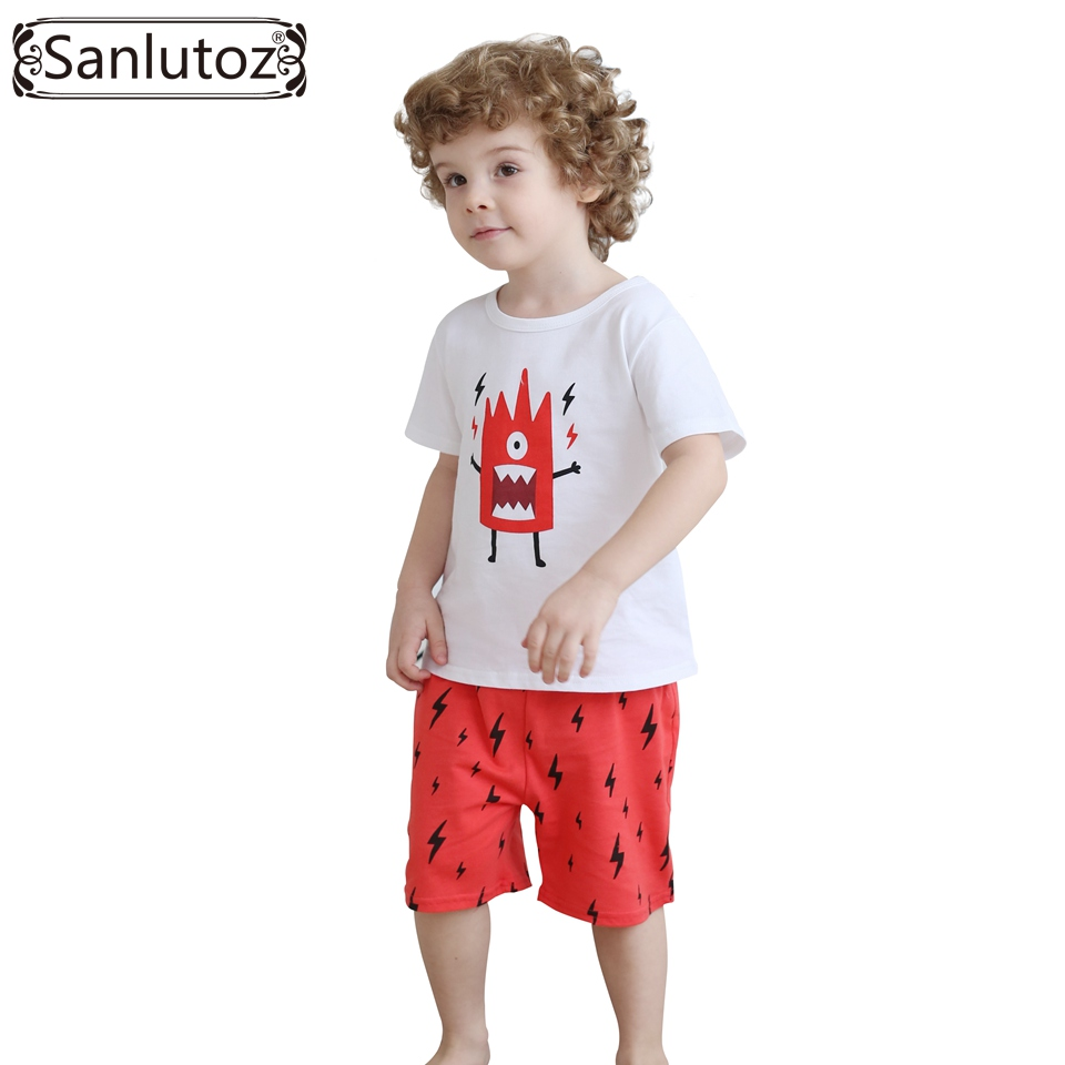 Boys Children Clothing Set Cotton Kids Clothes Summer Sport Suits for Boys Toddler Baby (Tshirts + Shorts) 2016 Brand 2t 7t high quality cotton baby boy kids toddler children suits clothing clothes set 2pcs baby boys clothing sets summer x16