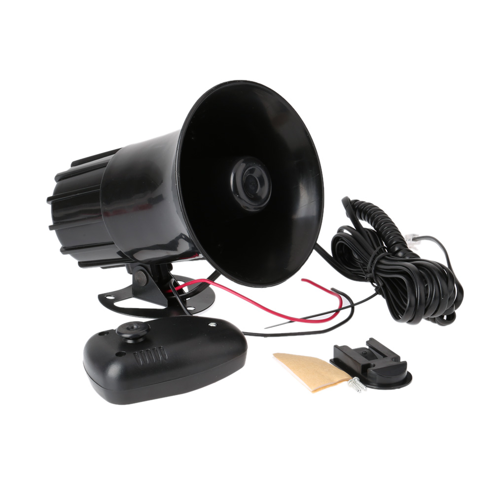7 звуков тон автомобильный мотоцикл рожок для грузового автомобиля 12 В 50 Вт 150 дБ электронный динамик громкий сигнал для велосипеда сигнализация Громкий динамик черный