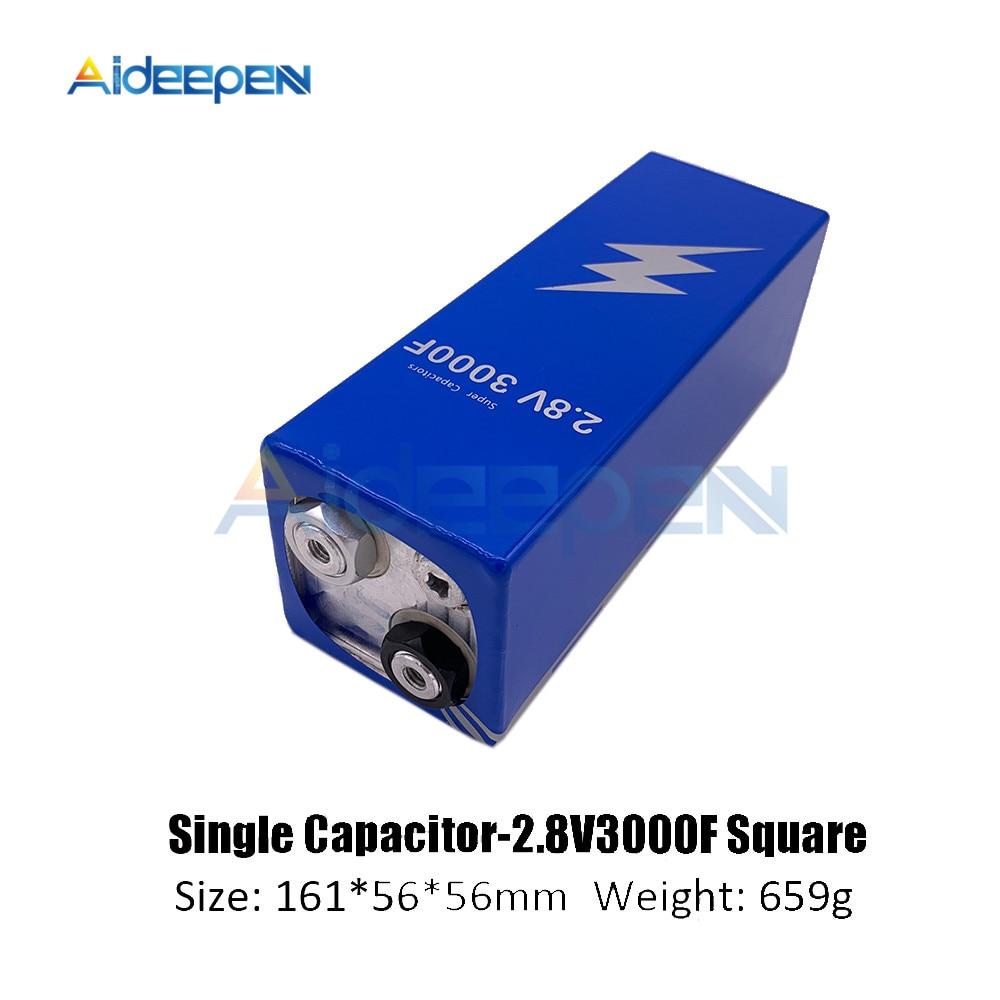 Super Farad Capacitor 2.8V 3000F 161*56*56mm Low ESR High Frequency Super Capacitor 2.8V3000F For Car