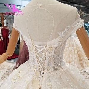 Image 2 - AIJINGYU فستان أبيض بسيط ثوب فاخر متجر الصين Frocks المشاركة الكرة ارتداء للعروس على الانترنت بيع خمر زي العرائس