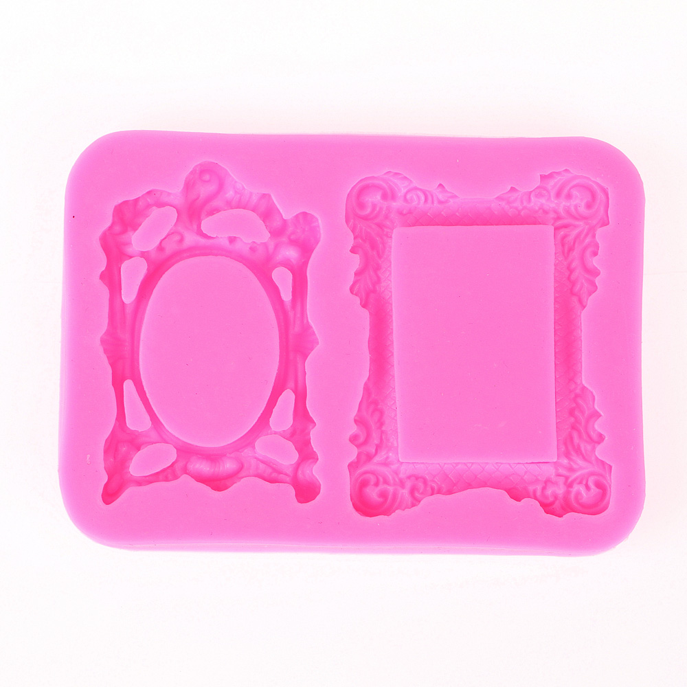 3D Reverse sugar molding Frame shape silicone mould for soap candle polymer clay molds accessories cake decoration tool FT-0423