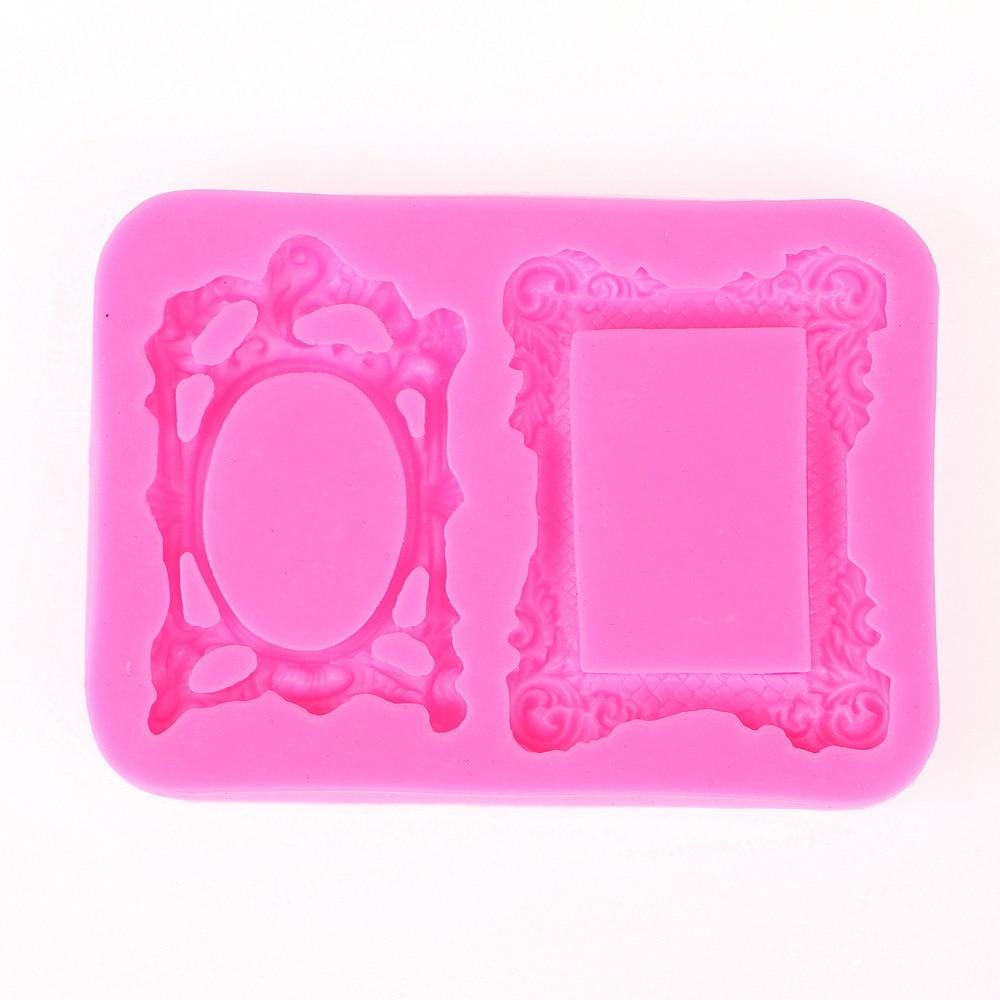 3D inversa azúcar moldeo marco forma silicona molde para la vela del ...