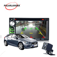 TV/DVD function 2 din car DVD player 6.5 inch Bluetooth hands free call touch screen Remote Control USB/AUX in