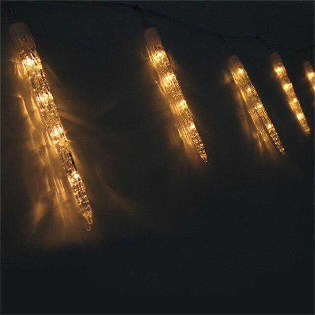 Led Icicle Lights String Fairy Wedding Party Garden Warm White 3 5m Uk Plug