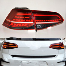 MIZIAUTO 4 PCS Tail Lights for VW Golf 7.5 MK 7.5 2013-2016 Flow LED Red Tail Lights  Car Styling Rear Light Automobile jgd brand new styling for vw golf 6 tail lights 2009 2013 led tail light rear lamp led drl singal car lights
