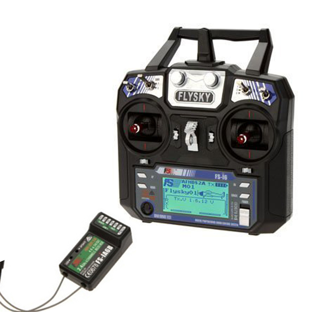 FlySky FS-i6 2.4G 2A 6CH AFHDS RC Transmitter + Upgraded FS-iA6B Receiver
