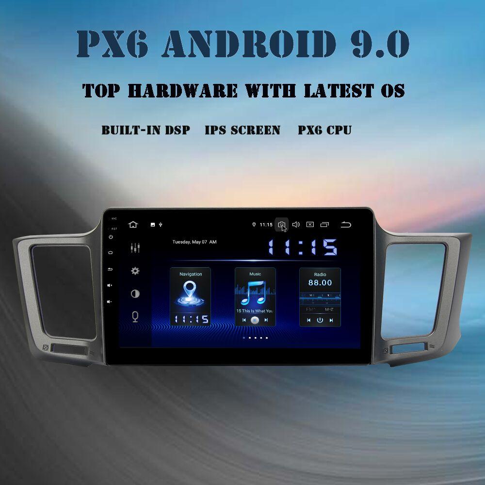 10.2 lecteur multimédia de voiture ips Android 9.0 pour Toyota RAV4 2013-2017 Rav 4 unité de tête intégrée GPS DSP HDMI autoradio 4Gb + 64GB