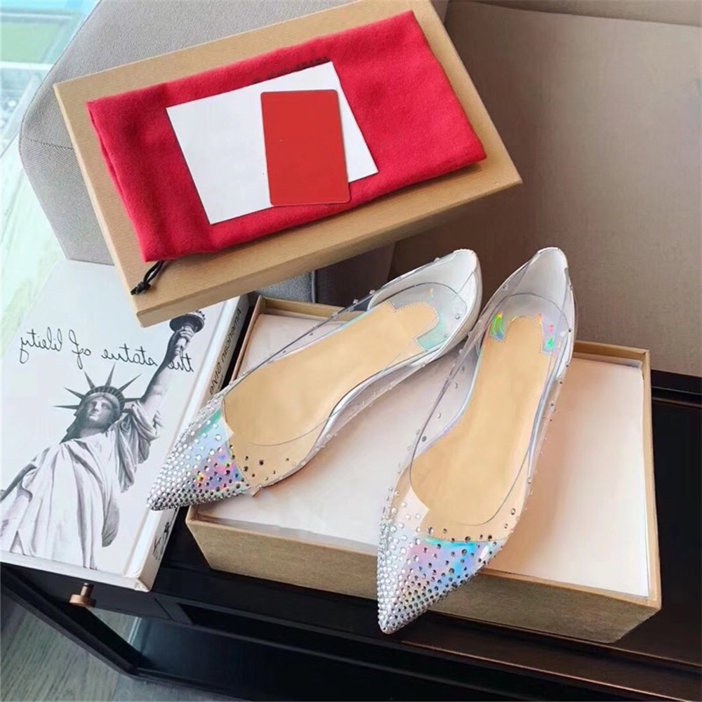 Women s Shoes Slip On Breathable Flats Hot Sell Pointed Toe Spring Shoes Crystal Ladies Party