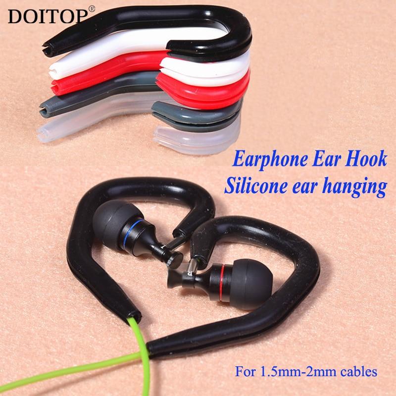 DOITOP 2pcs Soft Earphone Accessories Earphone Earhook Silicone Ear hanging Ear Hooks Running Sport Protect Earbud Earphone Fall