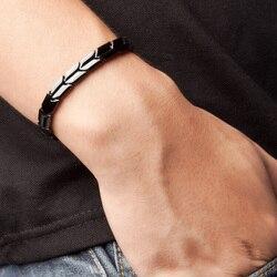 Power Ionics Black Titanium Germanium Health Fashion Bracelet Balance Body PT007