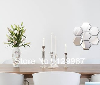 Us 1116 7 Offdiy 3d 21 Pcs Per Set Acrylic Hexagon Wall Mirror Sticker Home Decoration Can Combine Different Shapes As Your Need In Decorative