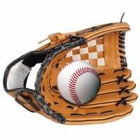 Top Venda de Couro Pu Luva De Beisebol Mão Esquerda 10.5/12.5 Polegada de Treinamento De Beisebol e Softbol Luvas Guantes Beisbol Atacado