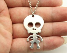 Hot Selling New For Women Jewelry Accessories cartoon skull pendant long necklace Wholesale Cheap Aliexpress