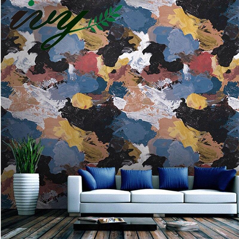 цены на IVY MORDEN Graffiti Art Roll Wallpaper for Home Decor Vintage PVC Wallpaper for Living Room Bedroom Wall Mural Papers Roll в интернет-магазинах
