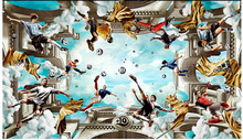 Custom photo 3d wallpaper Non-woven picture wall sticker 3 d Football heaven ceiling murals room decoration painting
