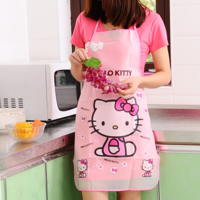 Cartoon Apron Kit Bib Apron Cartoon Long Sleeveless  Waterproof Kitchen Aprons For Men And Women