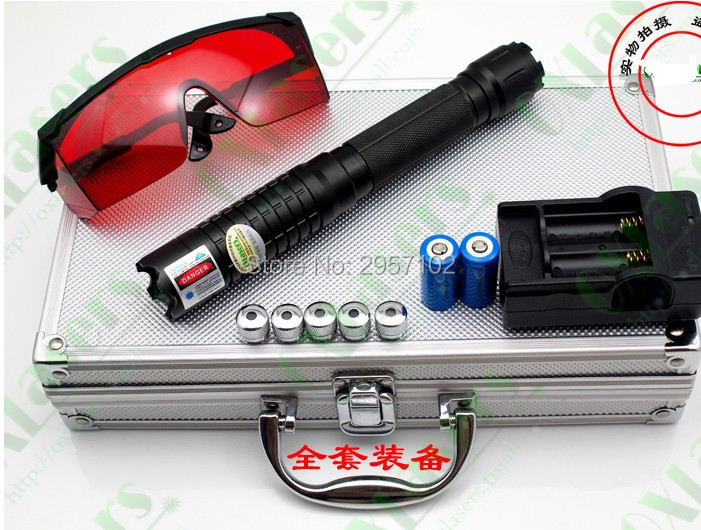 все цены на High Power Military 450nm 50000m Blue laser pointers light Burning Match Dry wood/Burn cigarettes+ 5 star caps+Glasses+Gift Box онлайн