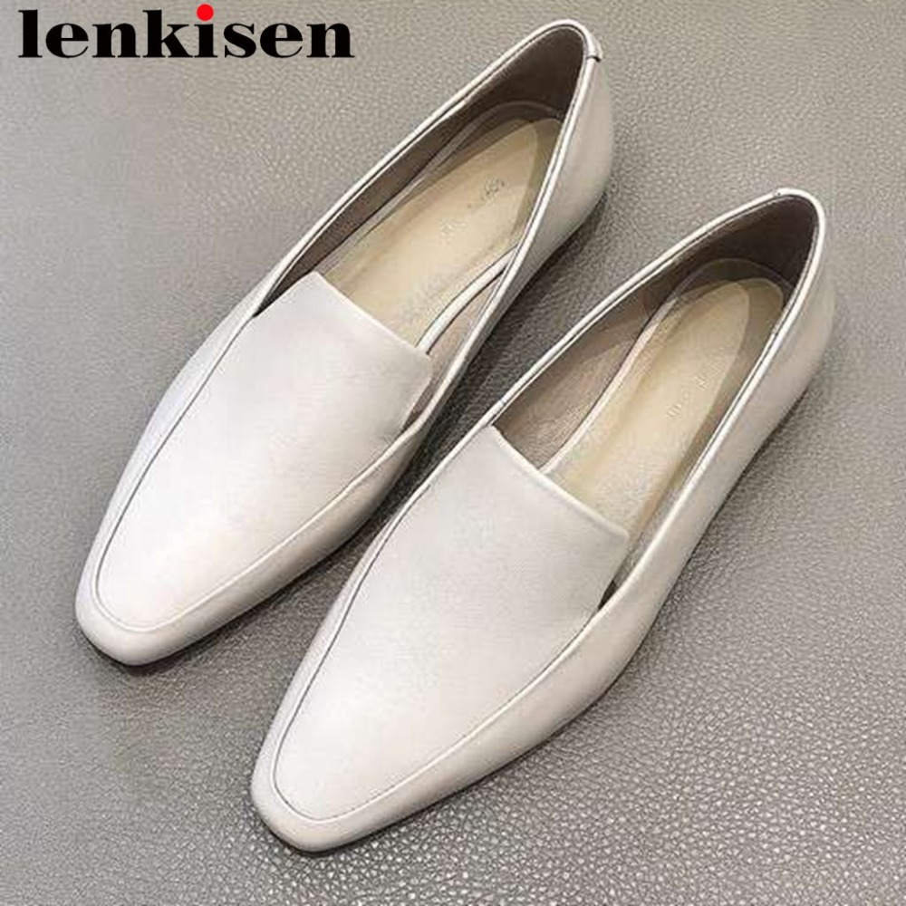 2019 hand sewn leather loafers genuine leather comfortable elegant lady high quality flats superstars slip on