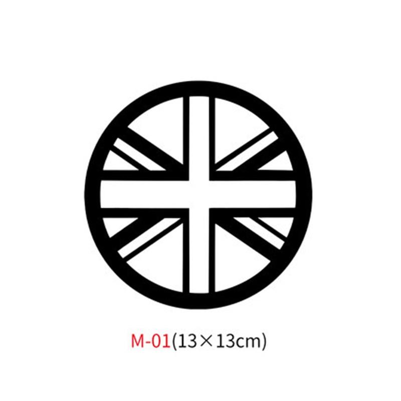 Различные автомобильные наклейки Union Jack для Mini Cooper One S JCW Countryman Clubman F55 F56 R55 R56 R60 F60 автомобильные аксессуары - Название цвета: M-01