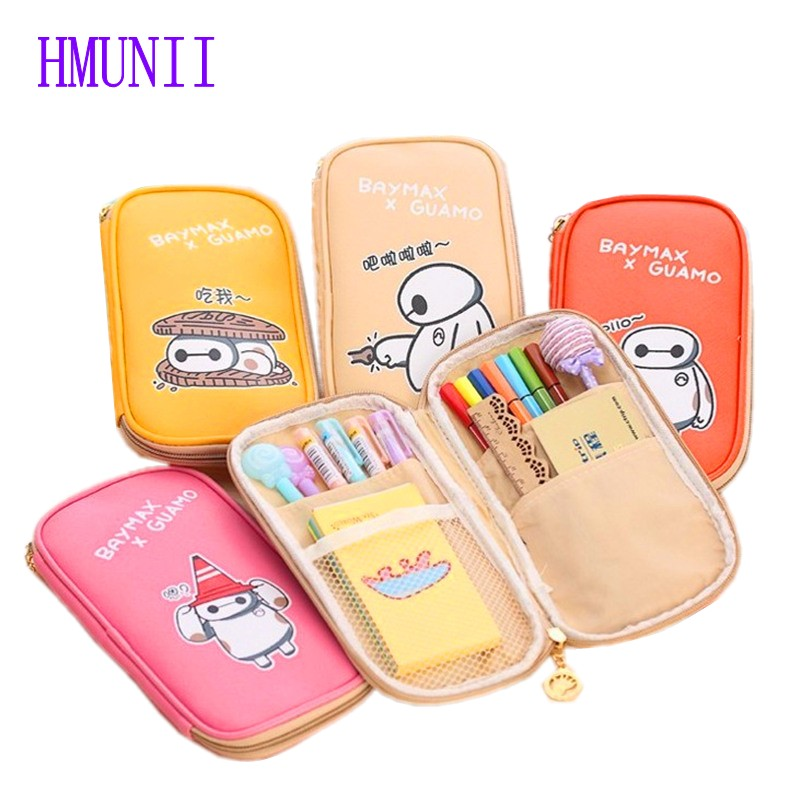 цены  New Fashion women 5 Color PU Cosmetic Bags Organizer  Holder Zip Handbag Makeup Pencil Student Stationery Pen Bag