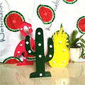 3D LED Flamingo Lamp Pineapple Cactus Light Romantic Night Light Lamp Table Lamp Marquee LED Nightlight Home Christmas Decor