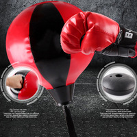 Indoor Punching Bag Set Ball Boxing Glove Training Ball Pump Stand Children Kids Boy Toy Bag