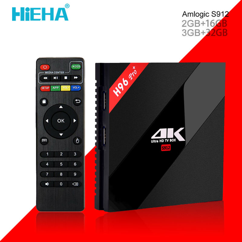 Hieha H96 Pro Plus Android 7.1 Tv Box 3G 32G Amlogic S912 Octa Core Android TV Box 2.4G/5.8G WiFi H.265 BT4.1 4K Media Player promoitalia пировиноградный пилинг pro plus пировиноградный пилинг pro plus 50 мл 50 мл 45%