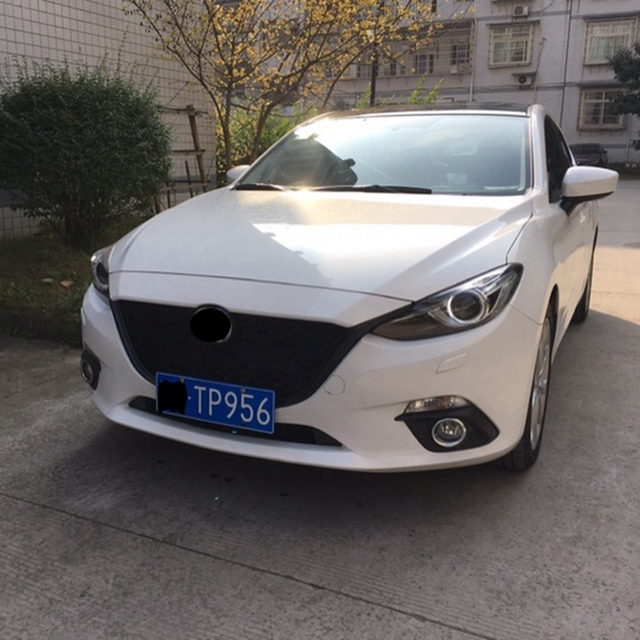 Us 123 25 15 Off For Mazda 3 Axela 2014 2015 2016 Front Bumper Grill Upper Grille Black Auto Car Parts Accessories In Racing Grills From