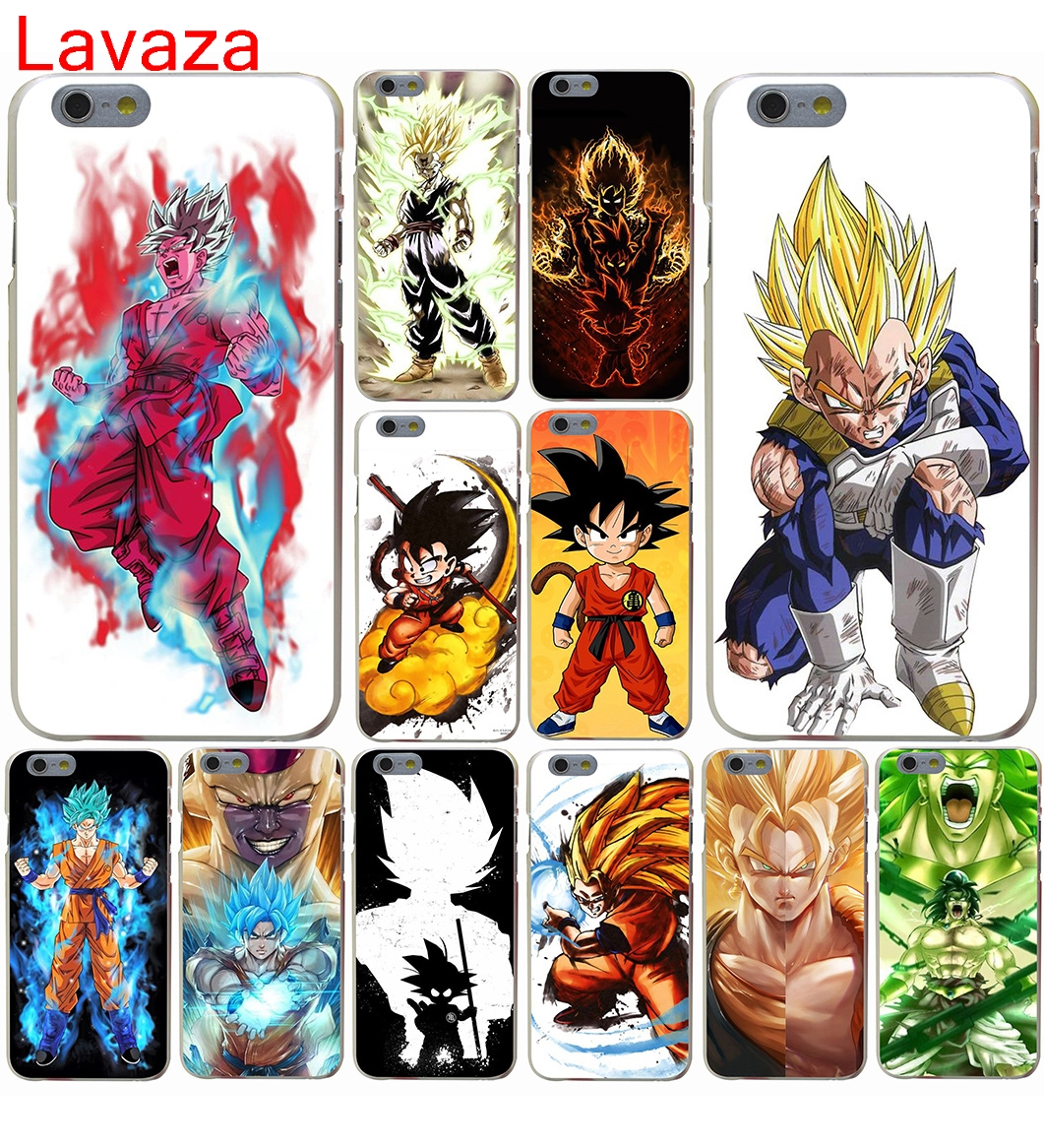 Lavaza dragon ball Goku vs Golden Hard Case for iphone 4 4s 5c 5s 5 SE 6 6s 6/7/8 plus X for iphone 7 case