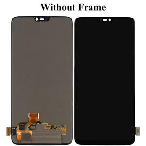 Image 4 - Per Oneplus 6 Sei Display LCD Con Touch Assemblea di Schermo di Ricambio Con Frame Per Oneplus 6 Sei LCD 1 + con Gli Strumenti