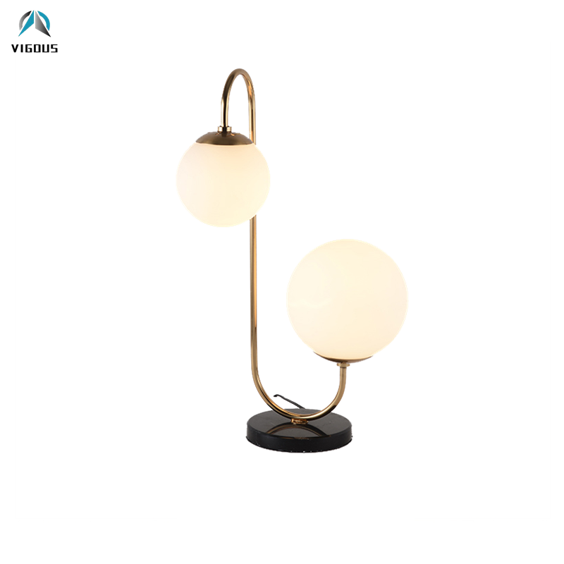 Nordic Brush Gold Lustre E27 Luminarias 2 Light Led Table Lamp Study Room Reading Lamp Bedsides Deco Led Desk Lamp Led Lamp