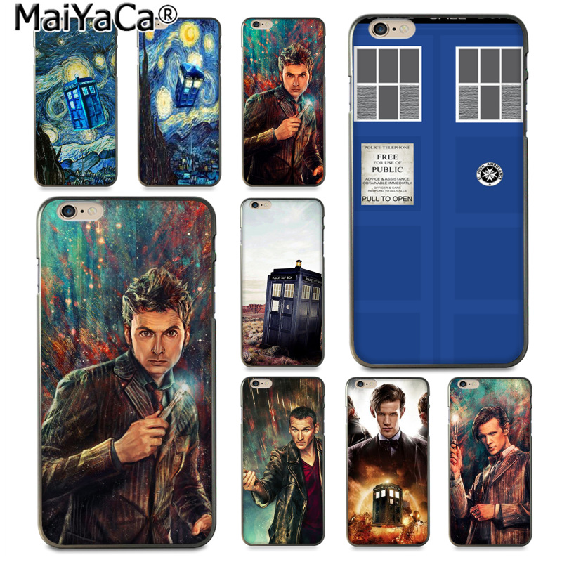 Maiyaca Tardis Box Doctor Who Luxury Fashion Cell Phone Case For Apple Iphone 8 7 6 6s Plus X 5 5s Se Xs Xr Xs Max Cover To Be Renowned Both At Home And Abroad For Exquisite Workmanship Half-wrapped Case Skillful Knitting And Elegant Design