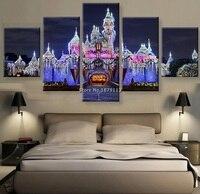 Новое специальное предложение современный некадрированным нерегулярные замок мечты пейзаж Декор стены украшения дома по номерам изображе...