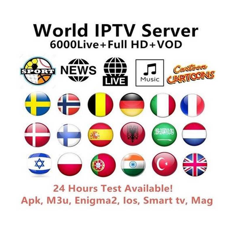 Ip ТВ Испания Espa, Франции, Италии Португалия Великобритании подписки Ip ТВ M3U Взрослый Латинский Бразилия лак Holanda швейцарский шнурок для Mag 254 256 ТВ коробка