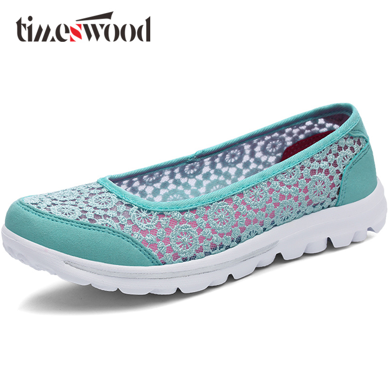 TIMESWOOD Women Elegant Handmade Lace Shoes Hollow Breathable Air Mesh Embroidered Flat Shoes Comfortable Zapatos Planos Mujer keloch new men casual shoes fly weave mesh breathable lace up air cushion sport basket flat shoes lovers trainers zapatos mujer