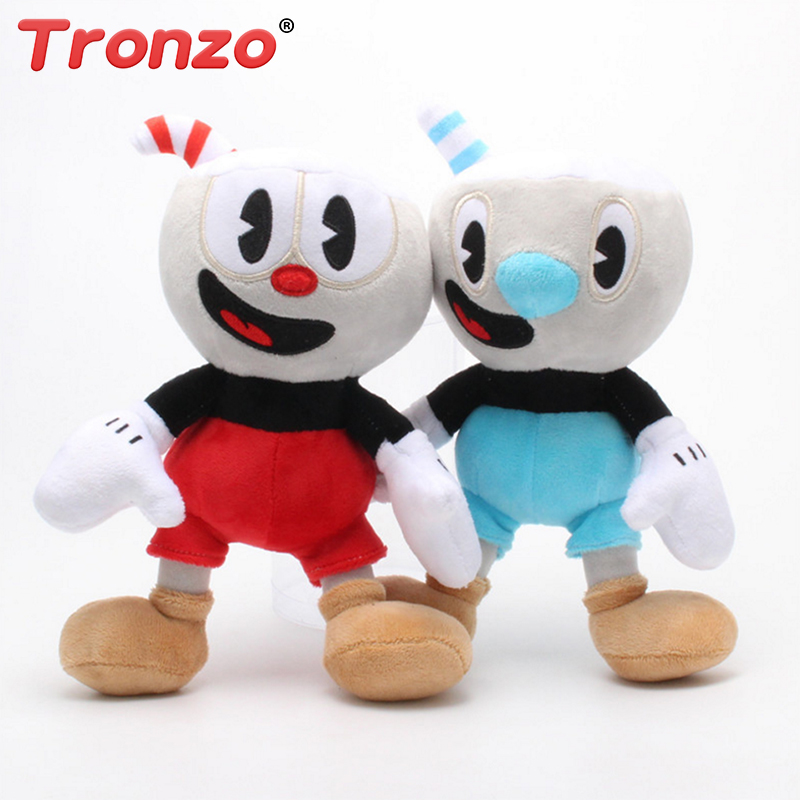 Tronzo 1Pcs 25cm Kawaii Cuphead Plush Toys New Anime 2018 Best Game Character Stuffed Figure Doll For Children Wholesale