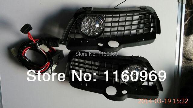 Modified car stying For 92-98 VW GOLF MK3  bora Jetta Mk3 Vento Bumper LED Fog Lamp AND Grille Set